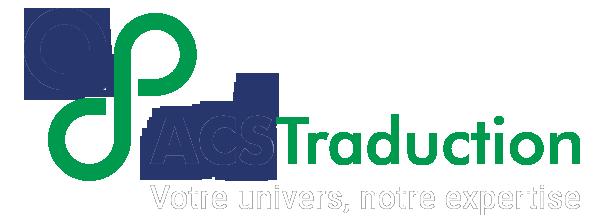 Logo de l'agence de traduction ACSTraduction pour la page référence
